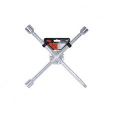 Ключ баллонный-крест (17*19*21*22)(усиленный) 400мм (АвтоDело) (34417) 13513