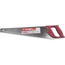 """Ножовка ЗУБР """"МАСТЕР"""" по дереву, прямой крупный зуб, пластиковая ручка, шаг зуба 5мм, 450мм Зубр 1525-04-45"""