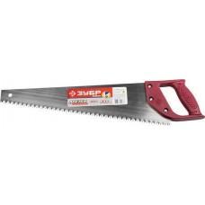 """Ножовка ЗУБР """"МАСТЕР"""" по дереву, прямой крупный зуб, пластиковая ручка, шаг зуба 6,5мм, 500мм Зубр 1525-05-50"""