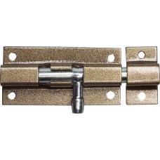 Задвижка накладная для окон и мебели ШП-60 КМЦ, цвет коричневый металлик/цинк, 60мм  37753-60