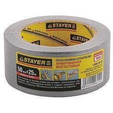 Армированная лента универсальная, влагостойкая, 48мм х 25м, серебристая Stayer 12080-50-25
