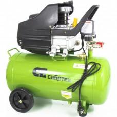 Компрессор воздушный КК-1500/50, 1,5 кВт, 198 л/мин, 50 л, прямой привод, масляный// СИБРТЕХ 58039
