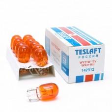 Автолампа 12V WY21W Teslaft 142912 оранж.