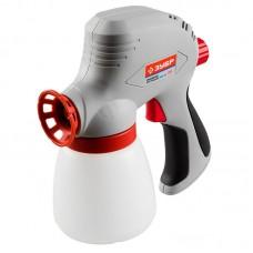 Краскопульт (краскораспылитель) электрический, ЗУБР ЗКПЭ-120, краскоперенос 300 мл/мин, вязкость краски 60 DIN, 0.8л, 120Вт