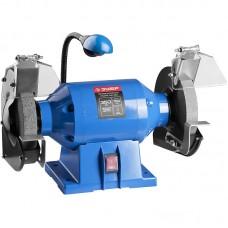 Cтанок точильный двойной, ЗУБР Профессионал ЗТШМЭ-150-350, лампа подсветки, D150х25хd32 мм, 350 Вт