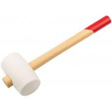 Киянка 450гр резиновая белая, с деревянной рукояткой, ЗУБР 20511-450_z01