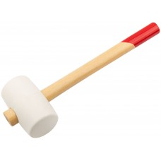Киянка 680гр резиновая белая, с деревянной рукояткой, ЗУБР 20511-680_z01