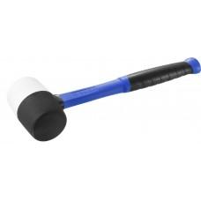 Киянка 450гр резиновая черно-белая, с фиберглассовой ручкой, ЗУБР 20532-450