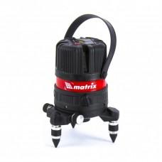 Уровень лазерный ML04P, 10м, ±0,3мм/1м, 635нм, 4 верт. 1 гор. пл., пыле-влаго. защ. корпус// MATRIX 35061