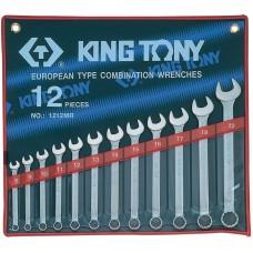 Комплект комбинированных ключей 8-22 мм 12 пр. KINGTONY 1212MR