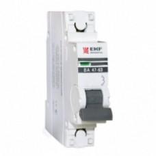 EKF PROxima автоматический выкл. ВА 47-63 1P 16А 4,5kA х-ка С mcb4763-1-16C-pro (с опломбировкой)