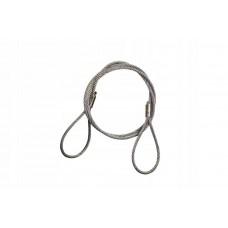 Буксировочный трос (стальной) 50 т 10 м Петля/Петля (d: 24.0 мм), Tplus T014399