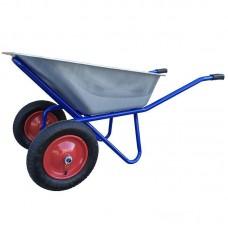 Тачка 100л 2 колеса синяя