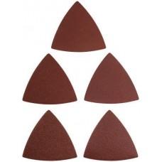 Листы шлифовальные треугольные на тканевой основе, 80 мм, набор 5 шт. FIT 37953 (цена за 1шт)