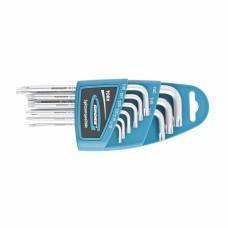 Набор ключей имбусовых TORX-TT, 9 шт: T10-T50, удлиненные, S2, сатинированные// Gross 16407
