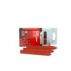 Мелки разметочные восковые красные, 120мм, коробка 6шт.// Matrix 84818
