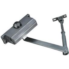 Доводчик дверной на стальной тяге, серый 45-65 кг 66272