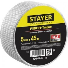 Серпянка самоклеящаяся FIBER-Tape, 5 см х 45м, STAYER Professional 1246-05-45 1246-05-45_z01