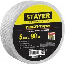 Серпянка самоклеящаяся FIBER-Tape, 5 см х 90м, STAYER Professional 1246-05-90 1246-05-90_z01