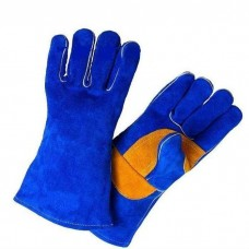 Краги спилковые пятипалые Blue Welder кевлар