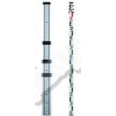 Рейка нивелирная телескопическая ADA STAFF 4 (рейка – отсчет мм шкалы снизу вверх, чехол, 4 м)А00142