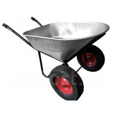 Тачка 150л (усиленная) 2 колеса красная