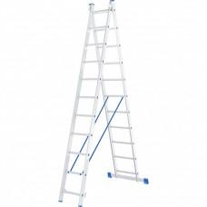 Лестница 2-х секционная алюминивая 2*11 Сибртех 97911