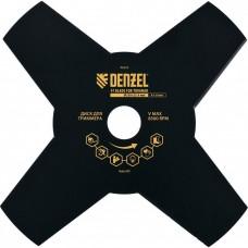 Диск для триммера 230*25,4, толщ.1,6мм, 4лезвия, Denzel, 96323