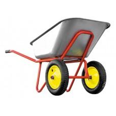 Тачка 110л 2 колеса красная
