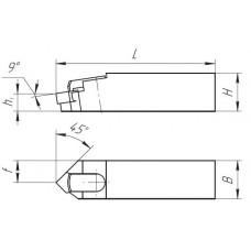 Вставка расточная с механическем креплением пластины ромбической формы РЭО 308.00.00 50 10 10 5 6.5 CCDNL0512C6