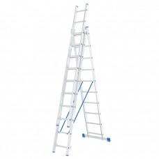 Лестница 3х секционная 10 ступеней, алюминиевая, /Р3/ СИБРТЕХ 97820