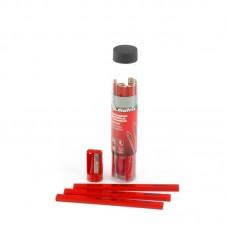 Набор карандашей малярных прямоугольных с точилкой в тубе, 175мм, 10шт// Matrix 84814