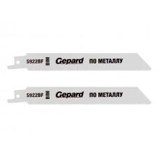 Пилка сабельная по металлу S922BF (2 шт.) GEPARD (пропил прямой, тонкий, для листового металла) (GP0618-24) GEPARD GP0618-24