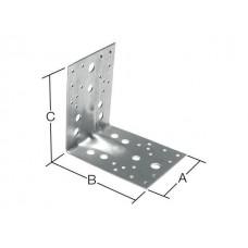 Уголок перф. крепежный 70x70х55 KUU усиленный 2.5 мм белый цинк STARFIX (SMP-43776-1) STARFIX SMP-43776-1
