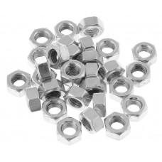 Гайка М6 шестигр. со стопорным кольцом, нерж.сталь (А2), DIN 985 (500 шт в карт. уп.) (098526) (STARFIX) STARFIX 98526 (цена за 1шт)