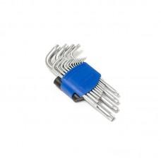 Набор ключей Г-образных TORX длинных, 15пр.(Т6, Т7, Т8, Т9, Т10, Т15, Т20, Т25, Т27, T30, T40, T45, F-5151L