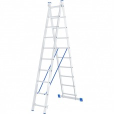 Лестница 2х секционная алюминиевая 2*10 Сибртех 97910