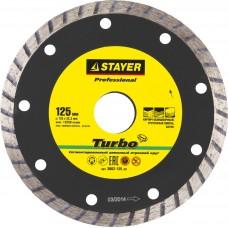 Диск алмазный 125*22,2мм отрезной TURBO сегментированный по бетону, кирпичу, плитке, STAYER Professional 3662-125_z01