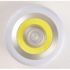 Светильник 5036 (3xR03) 1св/д COB 3W (200lm), бел+сер+желт/пласт, датчик света и движ, 2 реж Облик 600072