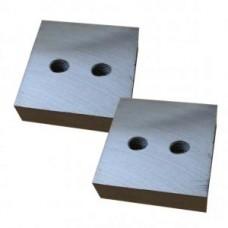 Нож для резчика арматуры ТСС-GQ 40A, GQ 42A (к-т из 2-х деталей, 2 отверстия М14х2,0, 84х84х26мм) TSS 490449