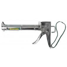 Пистолет KRAFTOOL полукорпусной пистолет для герметика Professional, хромированный, 320 мл. Kraftool 06671_z01