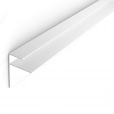 Профиль F для панелей 10мм 3,0м Белый