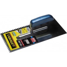Гладилка STAYER Profi 130х280 мм, 8х8 мм, гладилка штукатурная зубчатая нержавеющая с деревянной ручкой Stayer 0802-08