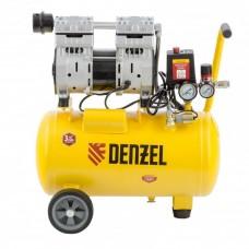 Компрессор DLS950/24 безмаслянный малошумный 950 Вт, 165 л/мин,ресивер 24 л// Denzel 58026