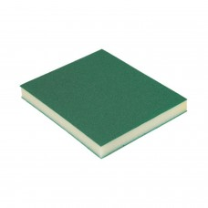 Абразивная губка Р060(100) 2-х сторонняя 98х120х13мм зеленая (1 шт) HOLEX HAS-52107