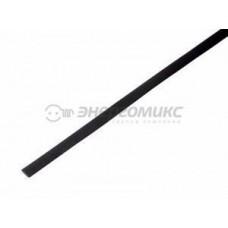 Трубка   термоусадочная трубка ТУТ   5,0 / 2,5 мм 1м  черная, уп. 50!!!, 20-5006 REXANT 462748