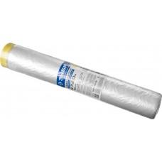 Пленка  ПРОФЕССИОНАЛ защитная с клейкой лентой, HDPE, 10мкм, 2,7х20м Зубр 12250-270-20