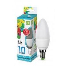 Свеча  свеча C37 E14 10W 4000К 4K 102x37 пластик/алюм standard 5576 ASD 656517