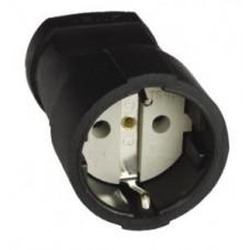 Штепсель 16А 250В (АБС-пластик, земля, черный) ASG16-30 EKF 460759