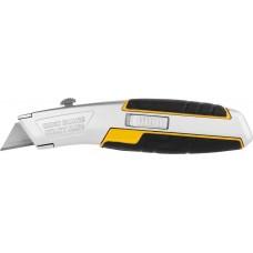 Выдвижным Нож  металлический, с выдвижным трапециевидным лезвием, тип А24, автозамена лезвий JCB JLC005